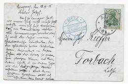 Postkarte 1915 - Elsaß-Lothringen - Augny Nach Forbach - Zensur Metz - Briefe U. Dokumente