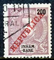 !■■■■■ds■■ Inhambane 1911 AF#43ø Mouchon REPUBLICA 200 Réis (x8532) - Inhambane