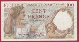 """100 Francs """"Sully"""" Du 16/08/1940.D.T---TTB+---ALPH .M.13987 - 1871-1952 Anciens Francs Circulés Au XXème"""