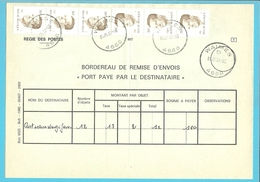 "2126 Op BORDEREAU DE REMIS D'ENVOIS ""PORT PAYE""... Stempel WAIMES (Oostkantons - Cantons De L'Est) - Precancels"
