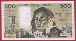 """500 Francs """"Pascal"""" Du 03/04/1980.B---SUP---ALPH .Q.109 - 1962-1997 ''Francs''"""