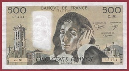 """500 Francs """"Pascal"""" Du 06/01/1983.P---SUP---ALPH .Z.181 - 1962-1997 ''Francs''"""