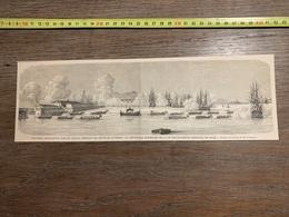1860 ILL GRAVURE ESCADRE A TOULON DEPOUILLES MORTELLES GRANDE DUCHESSE STEPHANIE DE BADE - Collections