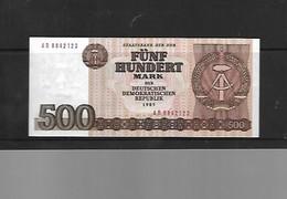DDR 500 Mark 1985 - [ 6] 1949-1990 : GDR - German Dem. Rep.