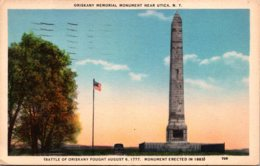 New York Utica Oriskany Monument 1937 - Utica