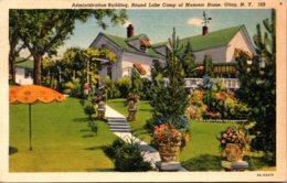 New York Utica Administration Building Round Lake Camp Of Masonic Home 1941 Curteich - Utica
