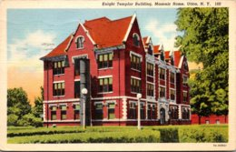New York Utica Masonic Home Knight Templar Building 1947 Curteich - Utica