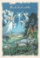 Religious - Angels Singing On The Sky - Shepherds With Sheep - Christmas Night In Betlehem By Raimo Partanen - Christmas