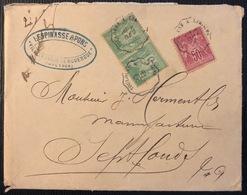 Lettre Sage Tarif à 60c N°98 & 102 En Paire Obl Dateur Ondulé Ambulant Ligne Toulouse à Limoges TTB - 1898-1900 Sage (Type III)