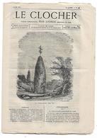 Journal Le Clocher N°50 Du 09/06/1877 Jean Loyseau - La Bretagne (Menhir ?) - Nouvelles De Rome ... - Journaux - Quotidiens