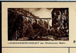 Carte Illustrée Neuve  N° 163 - 0143 E  ( LANDWASSERVIADUKT Der Rhätischen Bahn)  Trains - Railways - Glacier Express - Enteros Postales