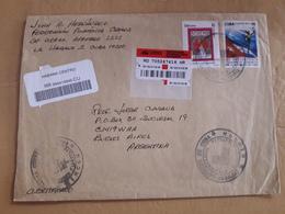 Une Enveloppe De Cuba A Circulé En Argentine Avec Des Timbres Modernes - Cuba