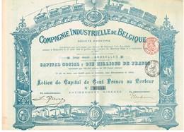 Titre Ancien - Compagnie Industrielle De Belgique Société Anonyme - Titre De 1898 - Déco N° 98685 - Industrie