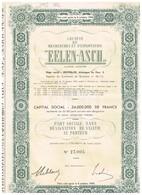 "Titre Ancien - Société De Recherches Et D'Exploitation ""Eelen-Asch"" Titre De 1949 - Industrie"