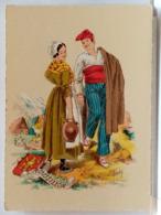 ROUSSILLON - FOLKLORE - COSTUME - COIFFE - COUPLE - BLASON - ILLUSTRATION NAUDY - BARRE DAYEZ 1187 N - Naudy