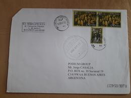 Une Enveloppe Roumaine A Circulé En Argentine Avec Beaucoup De Timbres Modernes - 1948-.... Républiques
