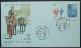 Andorra - FDC 1988 Donkey Europa - Donkeys