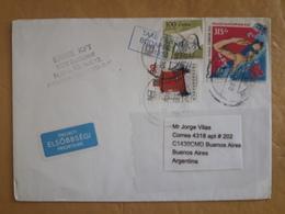 Enveloppe Hongroise Diffusée En Argentine Avec Des Timbres Des Jeux Olympiques De Londres Et Autres - Hongrie