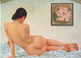 FONG: Le Lotus [ Nu Femme Nude CPM Chinoise ] FI002 - Schilderijen