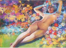 HONG: Flora [ Nu Femme Nude CPM Chinoise ] FI003 - Schilderijen