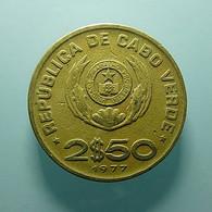 Cabo Verde 2 1/2 Escudos 1977 - Cap Vert