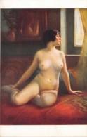 """ILLUSTRATEUR - EMILE TABARY -""""CURIEUSE"""" - FEMME - NU FEMININ - SALON DE PARIS - Autres Illustrateurs"""