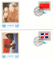 United Nations 1985 Stamps Flag Of Nations FDC 16V - Omslagen