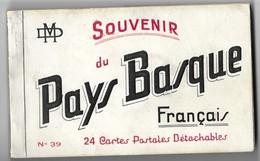 SOUVENIR DU PAYS BASQUE FRANCAIS ( 24 CARTES) OSSES, LOUBOUSSOA, IRISSARY, BIDARRAY, MAULEON,SARE, SAINT JEAN PIED DE... - Midi-Pyrénées