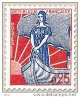 N° 1234 Marianne à La Nef  Faciale 0,25 F - Ungebraucht