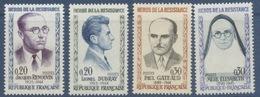 N° 1288 à 1291 Héros De La Résistance 5e Série - Ungebraucht