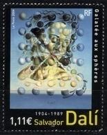 N° 3676 Salvador Dali  Faciale 1,11 € - Francia