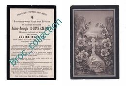 Hem, Mémento De Jules Joseph Dufermont, 17/10/1894, 52 Ans, Meunier, Adjoint Au Maire, époux Louise Messien, Décès - Imágenes Religiosas
