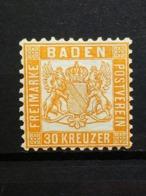 Altedeutschland Baden Mi-Nr. 22 B Postfrisch Mit Falz - Baden