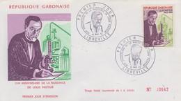 Enveloppe  FDC  1er  Jour   GABON   Louis  PASTEUR    1972 - Louis Pasteur