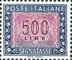 ITALIA REPUBBLICA ITALY REPUBLIC 1984 1991 1992 2000 SEGNATASSE POSTAGE DUE TAXE TASSE LIRE 500 STELLE IPZS MNH - 1946-.. République