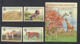 Uz 1350-54 Bl.94 Uzbekistan Usbekistan 2019 Zoo Of Tashkent - Usbekistan