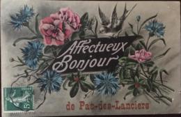 CPA, PAS Des LANCIERS (13, Bouches Du Rhône) Fantaisie, AFFECTUEUX BONJOUR DE PAS DES LANCIERS, 1910, éd Hautmont - Andere Gemeenten