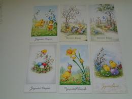 Beau Lot De 45 Cartes Postales De Fantaisie  Pâques    Mooi Lot Van 45 Postkaarten Fantasie  Pasen  - 45 Scans - 5 - 99 Postkaarten