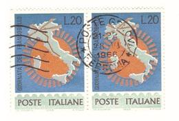 1965 £20 GIORNATA DEL FRANCOBOLLO - 1946-.. République