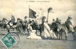 Algérie - Une Halte De Goumiers - Hommes