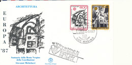 San Marino FDC EUROPA  CEPT 12-3-1987 Complete Set Of 2 With Cachet - Europa-CEPT