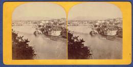 PHOTO STEREOSCOPIQUE ANCIENNE - SUISSE - GENEVE - ROUE A AUGE - MOULIN - Photos Stéréoscopiques