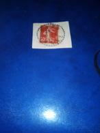Cachet Pointillé GRON  Yonne 1912 N°138 Sur Fragment - Poststempel (Einzelmarken)