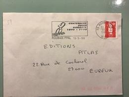 NORD - ROUBAIX Centenaire PARIS ROUBAIX 1896 - 1996 - Marcophilie (Lettres)