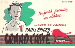 Ancien Buvard Collection PAIN D EPICES GRAND CASSE BROCHET FRERES BESANCON - Gingerbread