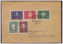 Österreich (005507) Brief Mit MNR 941, 942, 943/ 945 Gelaufen Nach Berneck (Schweiz) Von Salzburg Am 5.7.1950 - 1945-60 Briefe U. Dokumente