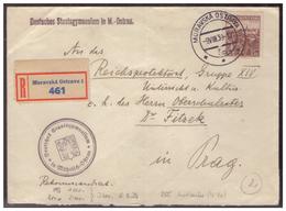 Böhmen Und Mähren (005513) Einschreiben Mitläufer Deutsches Staatsgymnasium M.-Ostrau Gelaufen Nach Prag Am 9.3.1939 - Böhmen Und Mähren