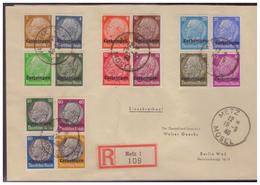 WKII Lothringen (005519) Einschreiben Satzbrief MNR 1/ 16 Gelaufen Metz Am 19.9.1940 - Besetzungen 1938-45