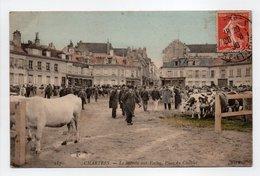 - CPA CHARTRES (28) - Le Marché Aux Vaches 1908, Place Du Chatelet (belle Animation) - Photo Neurdein 183 - - Chartres