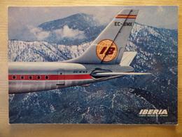 AIRLINE ISSUE / CARTE COMPAGNIE      IBERIA   DC 8  VERSO ABIME - 1946-....: Modern Era